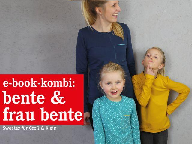 Produktfoto 1 von STUDIO SCHNITTREIF zum Nähen für Schnittmuster FRAU BENTE & BENTE Sweater im Partnerlook