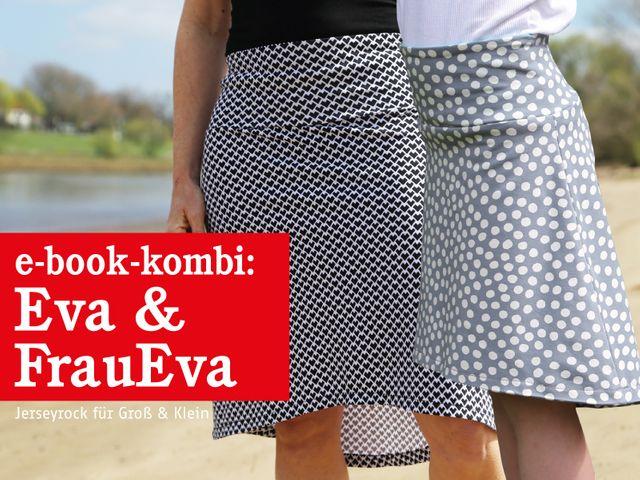 Produktfoto 1 von STUDIO SCHNITTREIF zum Nähen für Schnittmuster FRAU EVA & EVA Jerseyröcke mit Krempelbund