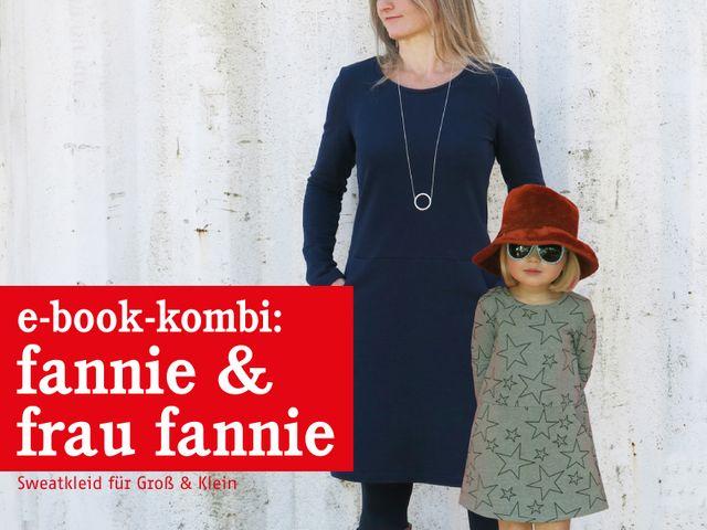Produktfoto 1 von STUDIO SCHNITTREIF zum Nähen für Schnittmuster FRAU FANNIE & FANNIE Sweatkleider im Partnerlook