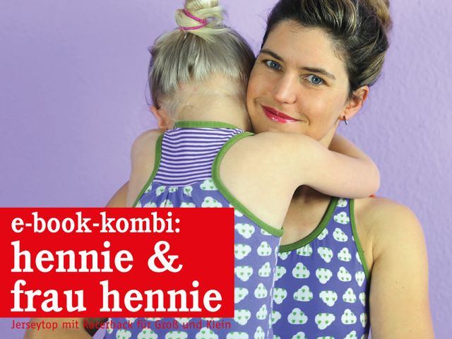 Produktfoto 1 von STUDIO SCHNITTREIF zum Nähen für Schnittmuster FRAU HENNIE & HENNIE Tops im Partnerlook