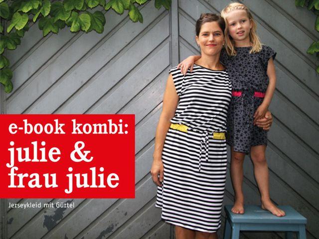 Produktfoto 1 von STUDIO SCHNITTREIF zum Nähen für Schnittmuster FRAU JULIE & JULIE Jerseykleider im Partnerlook