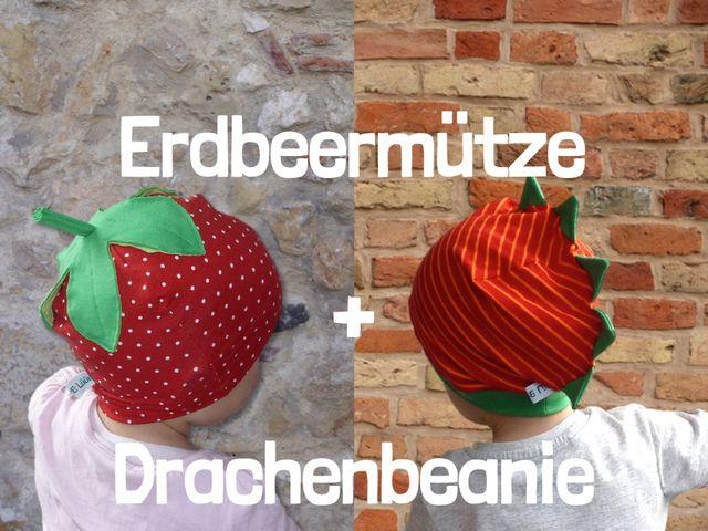 Produktfoto 1 von Windschnittich zum Nähen für Schnittmuster Erdbeermütze + Drachenbeanie