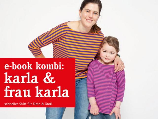 Produktfoto 1 von STUDIO SCHNITTREIF zum Nähen für Schnittmuster FRAU KARLA & KARLA Shirts im Partnerlook
