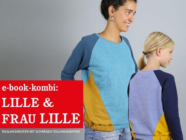 Produktfoto 1 von STUDIO SCHNITTREIF zum Nähen für Schnittmuster FRAU LILLE & LILLE Raglansweater im Partnerlook