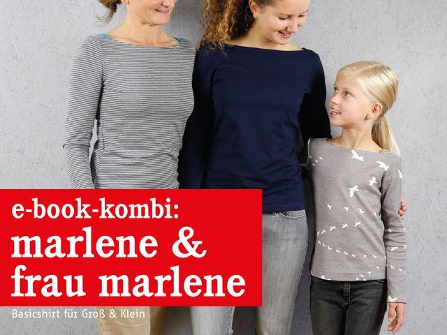 Produktfoto 1 von STUDIO SCHNITTREIF zum Nähen für Schnittmuster FRAU MARLENE & MARLENE Shirts im Partnerlook