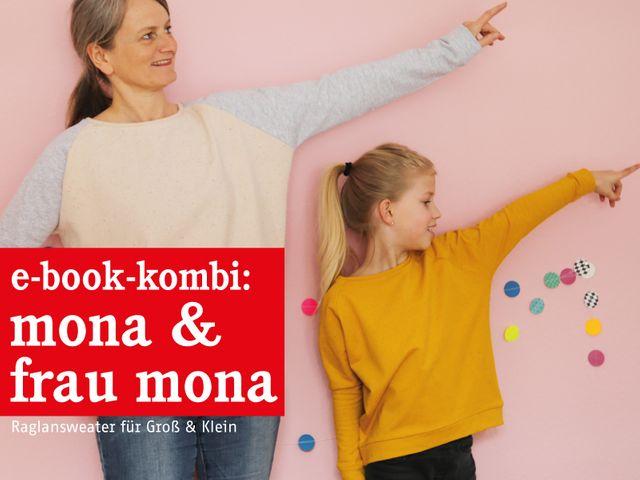 Produktfoto 1 von STUDIO SCHNITTREIF zum Nähen für Schnittmuster FRAU MONA & MONA Sweater im Partnerlook