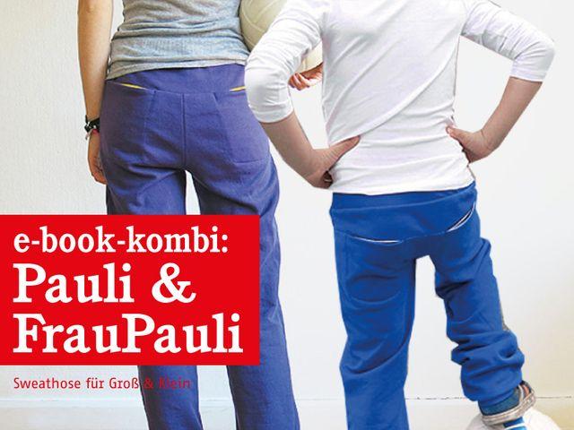 Produktfoto 1 von STUDIO SCHNITTREIF zum Nähen für Schnittmuster FRAU PAULI & PAULI Sweathosen im Partnerlook