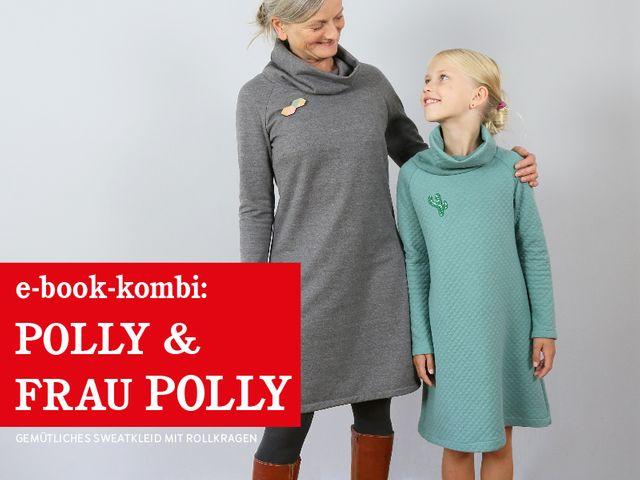 Produktfoto 1 von STUDIO SCHNITTREIF zum Nähen für Schnittmuster FRAU POLLY & POLLY Rollkragenkleider im Partnerlook