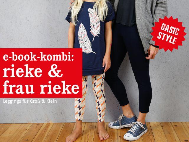 Produktfoto 1 von STUDIO SCHNITTREIF zum Nähen für Schnittmuster FRAU RIEKE & RIEKE Leggings im Partnerlook