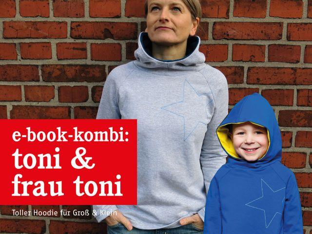 Produktfoto 1 von STUDIO SCHNITTREIF zum Nähen für Schnittmuster FRAU TONI & TONI Kapuzensweater im Partnerlook