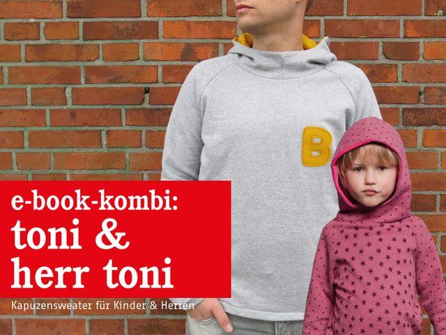 Produktfoto 1 von STUDIO SCHNITTREIF zum Nähen für Schnittmuster HERR TONI & TONI  Kapuzensweater im Partnerlook