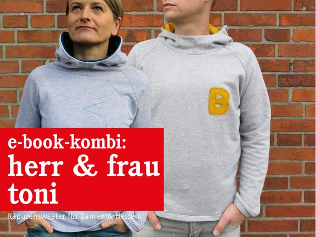 Produktfoto 1 von STUDIO SCHNITTREIF zum Nähen für Schnittmuster HERR TONI & FRAU TONI  Kapuzensweater im Partnerlook