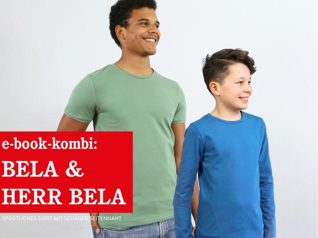 Produktfoto 1 von STUDIO SCHNITTREIF zum Nähen für Schnittmuster HERR BELA & BELA  Shirts im Partnerlook