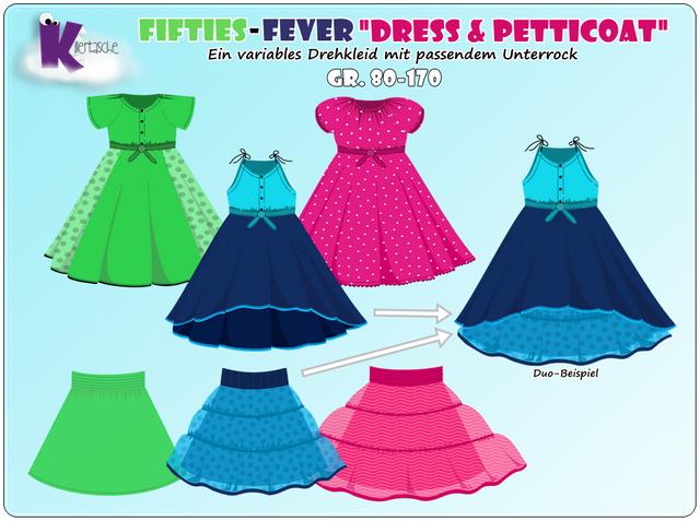 "Produktfoto 1 von KillerTasche zum Nähen für Schnittmuster Ebook Fifties-Fever ""Dress & Petticoat"""