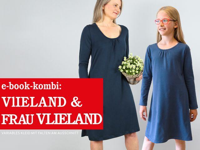 Produktfoto 1 von STUDIO SCHNITTREIF zum Nähen für Schnittmuster VLIELAND & FRAU VLIELAND Jerseykleider im Partnerlook
