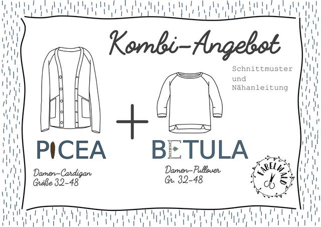"""Produktfoto 1 von Fabelwald zum Nähen für Schnittmuster Kombi-Angebot: """"BETULA"""" + PICEA"""