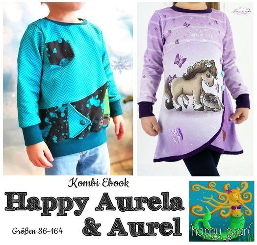 Produktfoto 1 von Happy Pearl zum Nähen für Schnittmuster Happy Aurela + Aurel - Tunika + Pullover