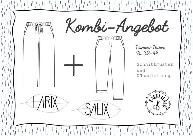 """Produktfoto 1 von Fabelwald zum Nähen für Schnittmuster Kombi-Angebot: """"LARIX"""" + """"SALIX"""""""