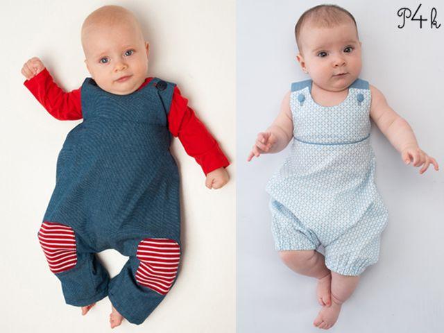 Produktfoto 1 von Pattern 4 kids zum Nähen für Schnittmuster Arturo und Phil Baby Overall