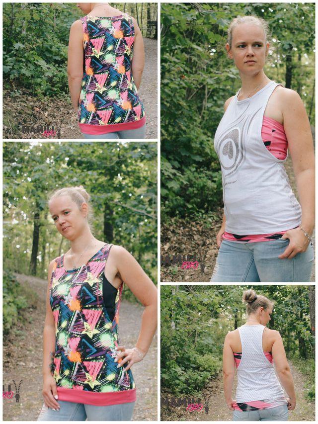 Produktfoto 1 von Mamili1910 zum Nähen für Schnittmuster E-Book Tanktops Ella&Elli + Bandeau-Shirt Gr. 32-50