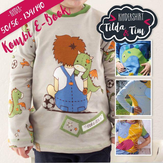 Produktfoto 1 von Katiela zum Nähen für Schnittmuster Ebook Shirt Tilda und Tim