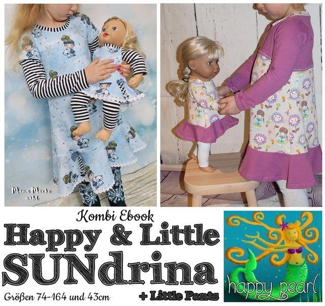 Produktfoto 1 von Happy Pearl zum Nähen für Schnittmuster Little SUNdrina + Happy SUNdrina Tunika/Kleid und 43cm Puppenschnitt