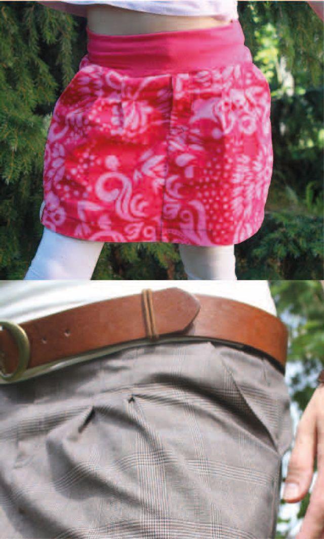 Produktfoto 1 von PRACHTKINDER zum Nähen für Schnittmuster 2 in 1 Chino Minirock