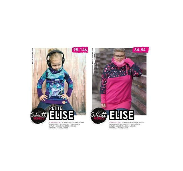 Produktfoto 1 von Schnittrebell zum Nähen für Schnittmuster Kombi Ebook Elise Gr.34-54 & Petite Elise Gr.98-146