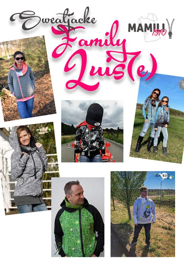Produktfoto 1 von Mamili1910 zum Nähen für Schnittmuster Sweatjacke Familienpaket Luis(e) (4E-Books in 1)