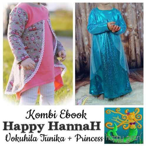 Produktfoto 1 von Happy Pearl zum Nähen für Schnittmuster Happy HannaH Tunika + Princess