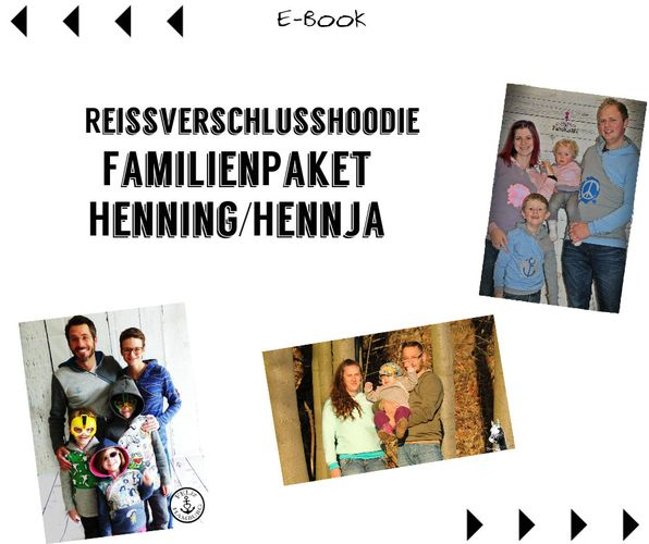 Produktfoto 1 von Mamili1910 zum Nähen für Schnittmuster Familienpaket Lady Hennja  & Mister Henning & Little Hennja/Henning