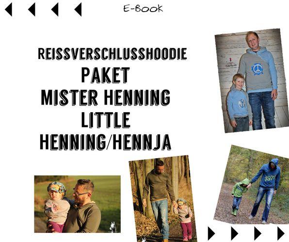 Produktfoto 1 von Mamili1910 zum Nähen für Schnittmuster E-BookPaket Mister Henning & Little Hennja/Henning