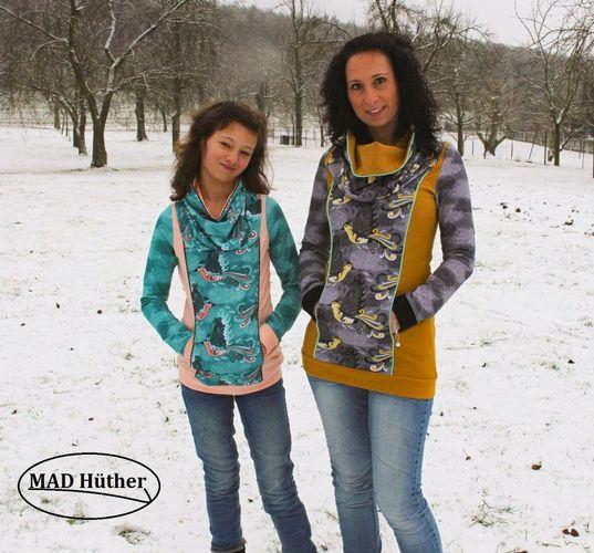 Produktfoto 1 von Mamili1910 zum Nähen für Schnittmuster Kombi Mama&Kind Hoodie Ronnja