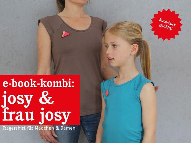 Produktfoto 1 von STUDIO SCHNITTREIF zum Nähen für Schnittmuster FRAU JOSY & JOSY Shirts im Partnerlook