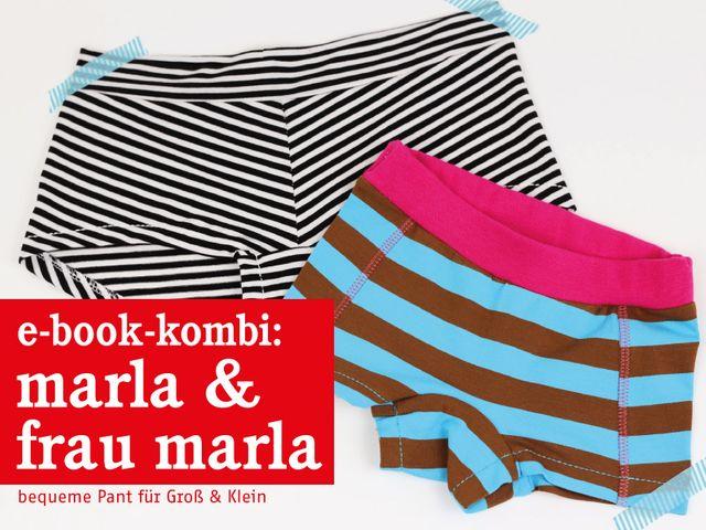Produktfoto 1 von STUDIO SCHNITTREIF zum Nähen für Schnittmuster FRAU MARLA & MARLA Pants im Partnerlook