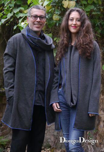 Produktfoto 1 von DongoDesign zum Nähen für Schnittmuster Loop-Strickjacke Johanna und Johannes 2 in 1