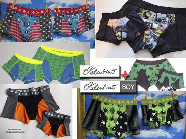 Produktfoto 1 von Elsterglück zum Nähen für Schnittmuster Valentino Vater-Sohn Unterhose Shorts Boxershorts