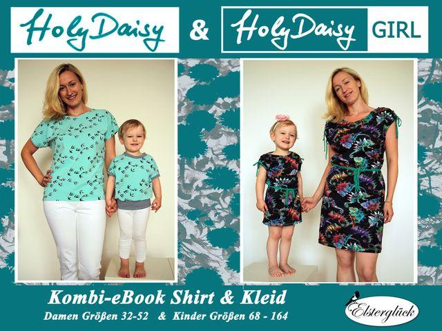 Produktfoto 1 von Elsterglück zum Nähen für Schnittmuster HolyDaisy Mutter-Tochter-Kleid + Shirt