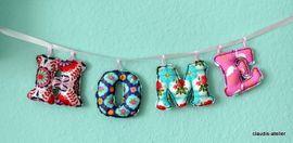 Foto zu Schnittmuster Buchstabenkette von COSY_things