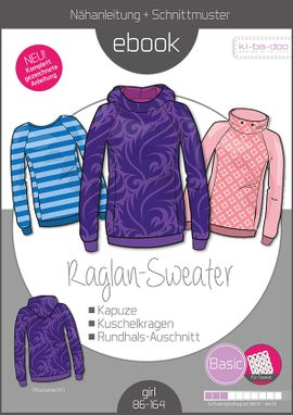 Foto zu Schnittmuster Basic Raglan Sweater Kids von ki-ba-doo