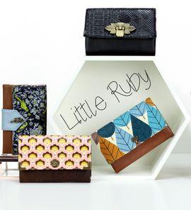 Produktfoto zu Kombi Ebook Tasche FoldOver 2.0 + Geldbörse Little Ruby von hansedelli