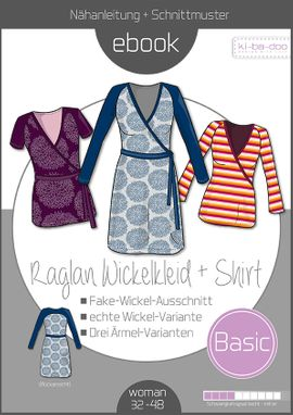 Foto zu Schnittmuster Basic Raglan Wickelkleid + Shirt von ki-ba-doo
