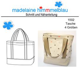 Foto zu Schnittmuster 1502 Tasche 4 Größen von madelaine himmmelblau