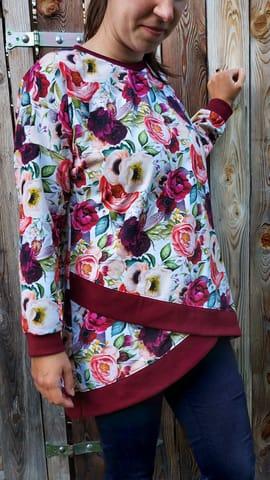 Foto zu Schnittmuster Shabby Asymmetrie Hoodie für Damen von MiToSa-Kreativ