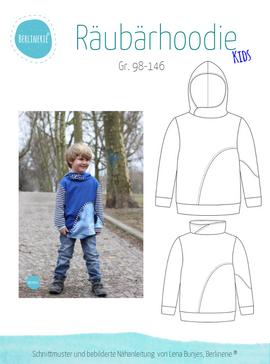 Produktfoto zu Kombi Ebook Räubärhoodie Baby+Kids Gr. 62-146 von Berlinerie Ebooks