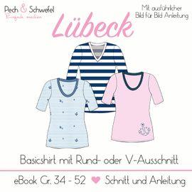 Foto zu Schnittmuster Damenbasicshirt Lübeck von Pech & Schwefel