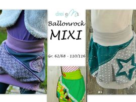 Foto zu Schnittmuster Ballonrock Mixi von drei eMs
