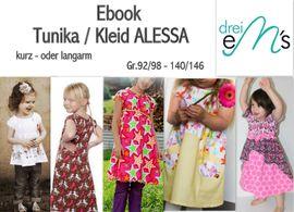 Foto zu Schnittmuster Tunika/Kleid Alessa von drei eMs