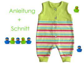 Foto zu Schnittmuster Baby-Strampler von Lunicum