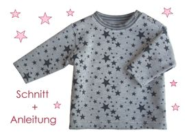 Foto zu Schnittmuster Baby Sweatshirt mit Verschluss von Lunicum
